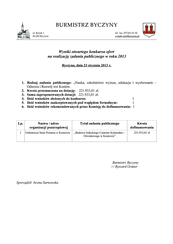 Wniki otwartego konkursu ofert na reakizację zadania publicznego - Kostów 2013 kopia.jpeg